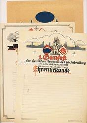 III. Reich - 1. Gaufest des Deutschen Reichsbundes für Leibesübungen - 3 Urkunden