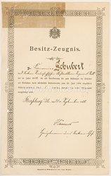Deutsches Reich - Besitzzeugnis für die Schießauszeichnung 1. Stufe