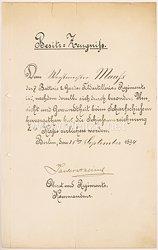 Deutsches Reich - Besitzzeugnis für die Schießauszeichnung 2. Klasse