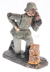 Lineol - Heer Nachrichtenmann kniend am Feldtelefon
