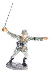 Elastolin - Heer Offizier im Sprung mit gezogenem Säbel