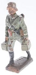 Lineol - Heer LMG Schütze mit Dreibein und zwei Munitionskisten tragend