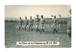 III. Reich Foto, Adolf Hitler auf der Feldparade des IX. A.K. 1936
