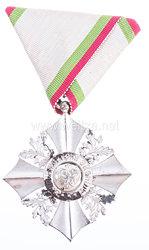 Königreich Bulgarien Zivilverdienst-Orden 1908-1944 VI. Stufe Silbernes Verdienstkreuz