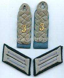 WehrmachtPaar Schulterstücke und Kragenspiegel für einen Major der Kraftfahr Abteilung 3