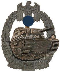 Panzerkampfabzeichen in Silber mit Einsatzzahl