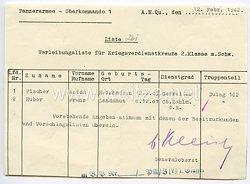 Heer - Originalunterschrift von Ritterkreuzträger Generaloberst Ewald von Kleist