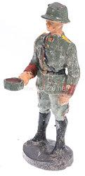 Elastolin - Heer Lagerleben - Soldat beim Essenempfang