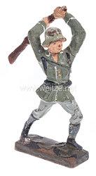 """Lineol - Heer Soldat mit Gewehr zuschlagend """" Kolbenschläger """""""