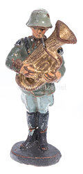 Elastolin - Heer Bläser mit kleinem Bass stillgestanden