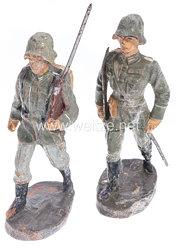 Elastolin - Heer 1 Offizier und 1 Soldat im Marsch