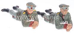 Elastolin - Heer Lagerleben - 2 Soldatenauf dem Bauch liegend