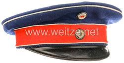 Preußen Schirmmütze für einen Offizier im Husaren-Regiment Nr. 13 oder Nr. 14