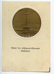 """III. Reich - Propaganda-Postkarte - """" Albert Leo Schlageter-Ehrenmal Düsseldorf """""""
