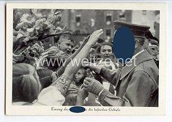 """III. Reich - Propaganda-Postkarte - """" Einzug des Führers in die befreiten Gebiete """""""
