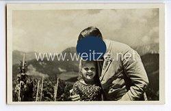 """III. Reich - Propaganda-Postkarte - """" Adolf Hitler - Der Führer mit der Jugend """""""