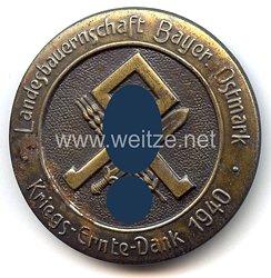"""Reichsnährstand ( RNSt ) -Brosche """" Kriegs-Ernte-Dank 1940 - Landesbauernschaft Bayer. Ostmark """""""