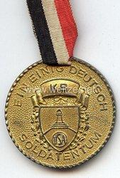 """III. Reich - Kyffhäuserbund in den USA - tragbare Erinnerungsmedaille """" Erstes Kyffhaeuser Bundesfest Jan.29, 1939 New York """""""