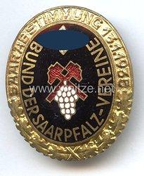"""III. Reich - Bund der Saarpfalzvereine -Goldenes Ehrenzeichen """" Saarabstimmung 13.1.1935 """""""