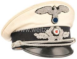 III. Reich Diplomatisches Korps weiße Schirmmütze für Staatsbeamte bis Legationsrat