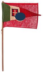 Hakenkreuz Fahne und Italienischer Wimpel