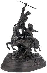 """Russland Statuette """"Zwei berittene Kosaken im Kampf"""""""
