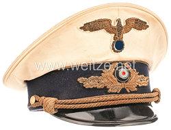 III. Reich Diplomatisches Korps weiße Schirmmütze für einen Ministerialdirigenten