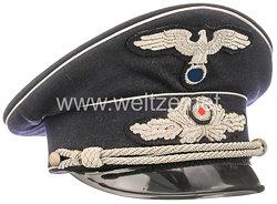 III. Reich Diplomatisches Korps dunkelblaue Schirmmütze für Staatsbeamte bis Legationsrat