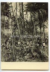 """SS - Propaganda-Postkarte - """" Ausstellung  Deutsche Künstler und die SS - Roman Feldmeyer, Am frühen Morgen des 22. Juni 1941 """""""