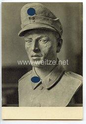 """SS - Propaganda-Postkarte - """" Ausstellung Deutsche Künstler und die SS - Karl Bachmeyer, SS-Gebirgsjäger """""""