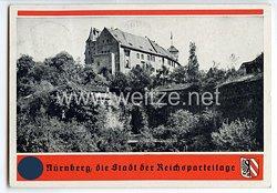 """III. Reich - farbige Propaganda-Postkarte - """" Nürnberg, die Stadt der Reichsparteitage - Burg """""""