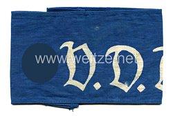 III. Reich V.D.A. Verein für das Deutschtum im Ausland Armbinde für Angehörige