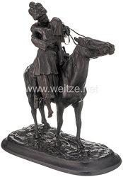 """Russland Statuette """"Abschied eines Kosaken von seiner Lieben"""""""