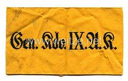 Wehrmacht Heer Armbinde für angehörige imGeneralkommando IX. Armeekorps