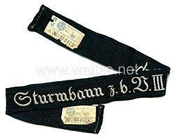 "SA Ärmelband ""Sturmbann z.b.V III/Nrh."""