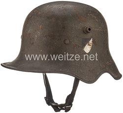 Reichswehr Stahlhelm M 18 Kavallerie mit Ohrenausschnitt