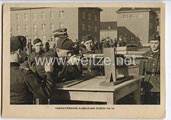 """III. Reich - Propaganda-Postkarte - """" Vormilitärische Ausbildung durch die SA """""""