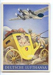 """III. Reich - farbige Propaganda-Postkarte - """" Deutsche Lufthansa """""""