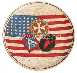 USA World War 2: U.S. Army Commemorative Plate of the 5th Army and the 34th Infantry Division in Italy