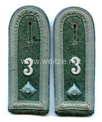 WehrmachtPaar Schulterklappen für einen Feldwebel der Kraftfahr Abteilung 3