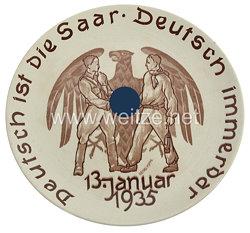 III. Reich - Erinnerungsteller an die Saarabstimmung 13.1.1935