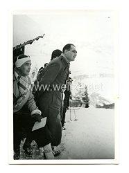 III.Reich Pressefoto: Rudolf Hess bei einem Skirennen