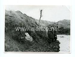 Wehrmacht Pressefoto: Soldaten am Unterstand