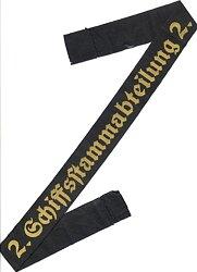 """Mützenband """" 2. Schiffsstammabteilung 2."""""""