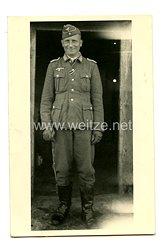 Wehrmacht Heer Foto, Leutnant mit Schiffchen
