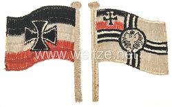 Kaiserliche Marine/Reichsmarine 2 kleine Reichskriegsflaggen