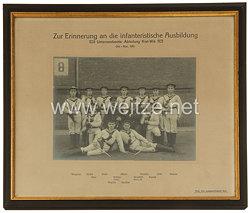 """Kaiserliche Marine Gerahmte Fotografie """"Zur Erinnerung an die infanteristische Ausbildung - Unterseeboots-Abteilung Kiel-Wik"""""""