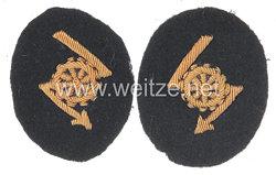 Kriegsmarine Paar Ärmelabzeichen für Offiziere der Nachrichtentechnischen Laufbahn