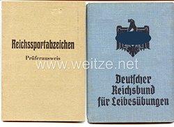 Deutscher Reichsbund für Leibesübungen ( DRL ) - Mitgliedsbuch und Reichssportabzeichen-Prüferausweis