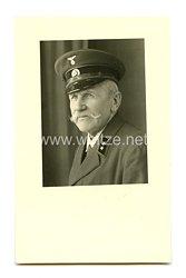III. Reich Portrait, Postschaffner mit Schirmmütze